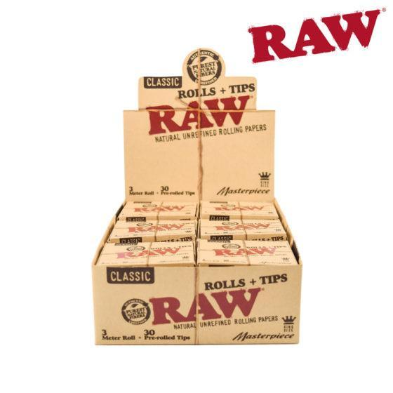 RAW® Classic Masterpiece Rolls and Tips (12 pack)