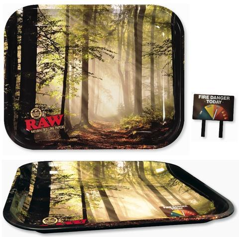 RAW Metal Rolling Tray - Smokey Forest (Large)