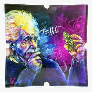 T=HC2 Einstein Shatterproof Glass Ashtray