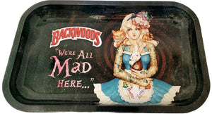 "Premium Metal Rolling Tray Backwoods ""We All Mad Here"""