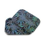 Afghan Hemp - Leaf Design Tray w/ Magnetic Lid Blue