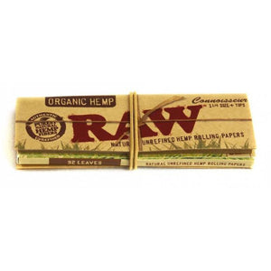 RAW Organic Connoisseur 1 1/4 with Tips (24 pack)