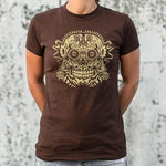 Ace of the Dead Skull women's t-shirt chocolate logo