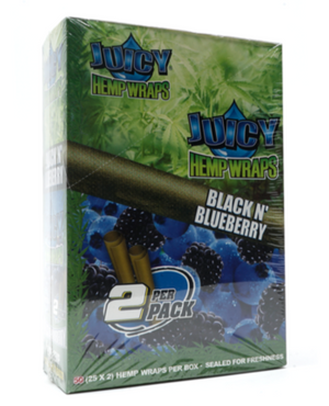 Juicy Hemp Blunt Wraps Black N' Blueberry (Box of 25)