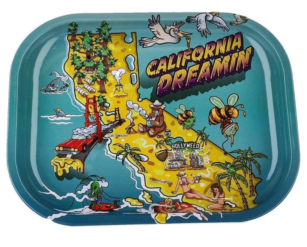 Cartoon Crossover Trays + Magnetic Covers California Dreamin'