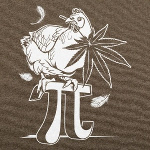 Chicken Pot Pi T-Shirt (Men's) heather brown
