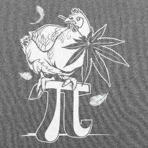 Chicken Pot Pi T-Shirt (Men's) heather gray