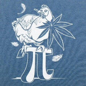 Chicken Pot Pi T-Shirt (Men's) heather royal