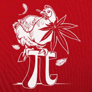 Chicken Pot Pi T-Shirt (Men's) red logo