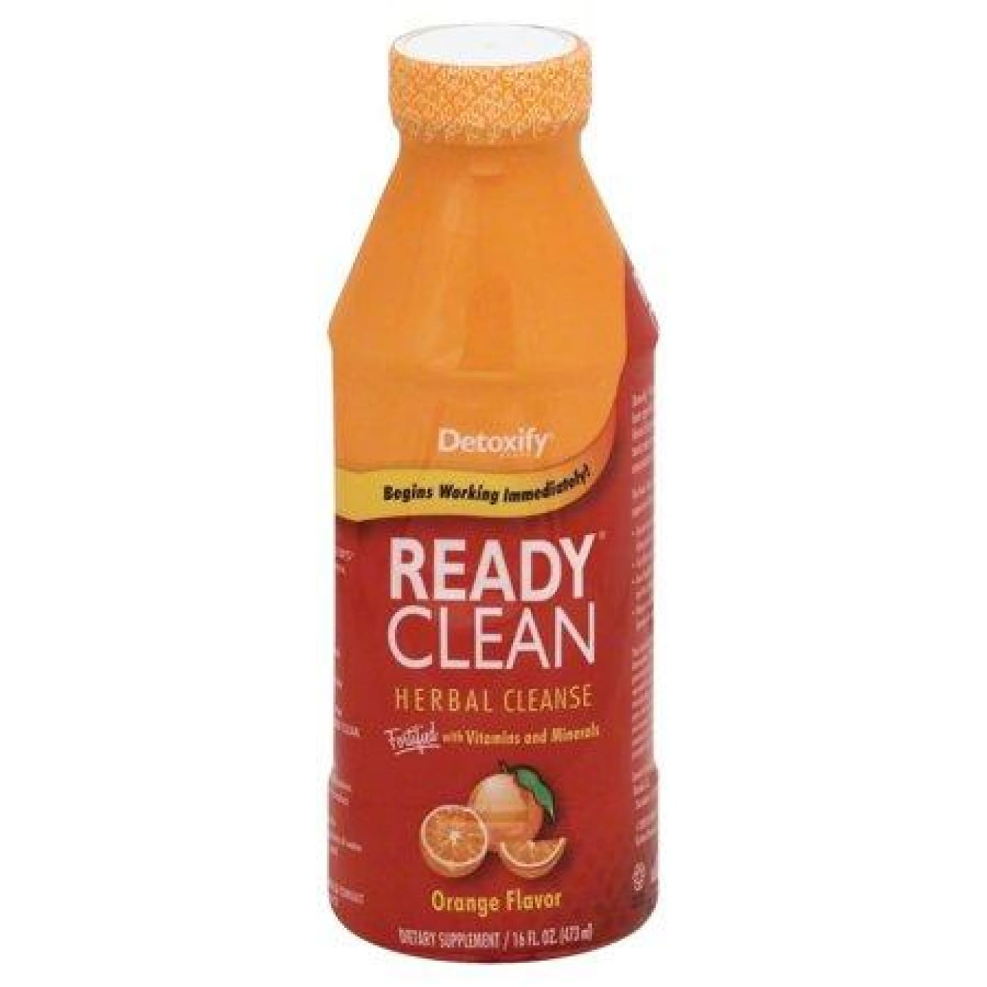 Detoxify Ready Clean 16oz. Orange / Bottle