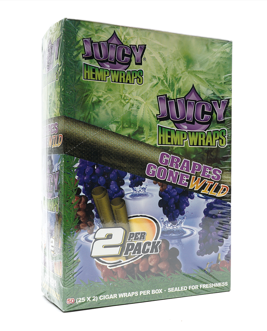 Juicy Hemp Wraps Grapes Gone Wild (Box of 25)