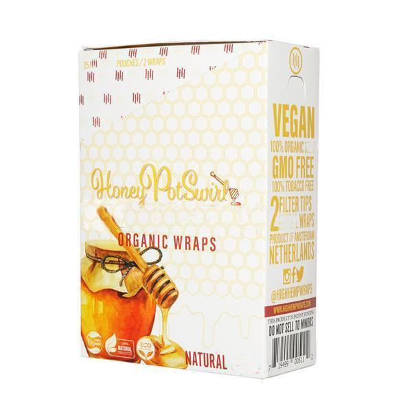 High Hemp Wraps Honey Pot Swirl (Box of 25)