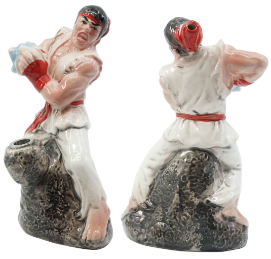 Ceramic Water Pipe - Fighter