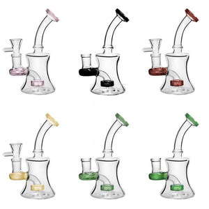 "6"" Beaker Bong Mini Oil Rigs Multi Color Water Pipe With 14mm Banger"
