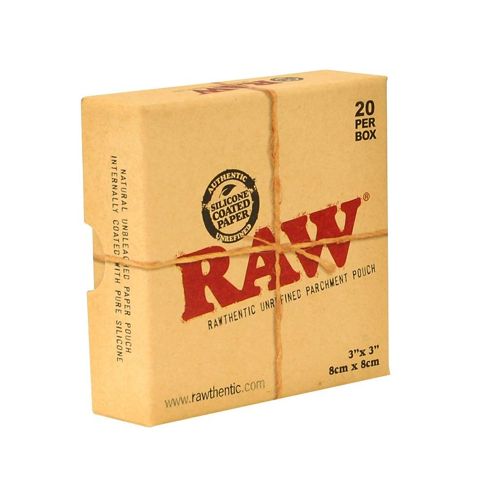 RAW Parchment Pouches 3'' x 3'' (20 pack)