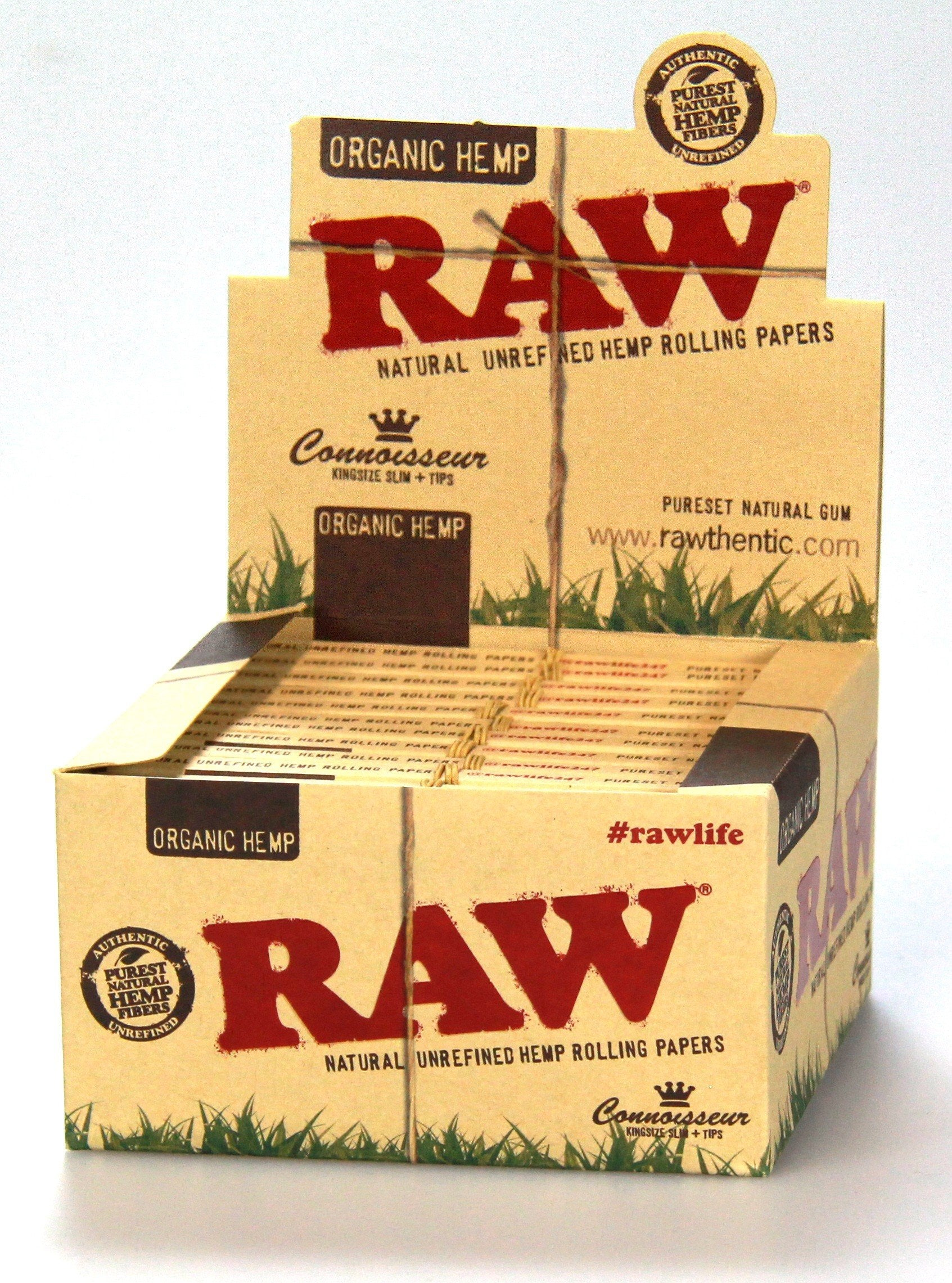RAW Organic Connoisseur King Slim w/ Tips (24 pack)