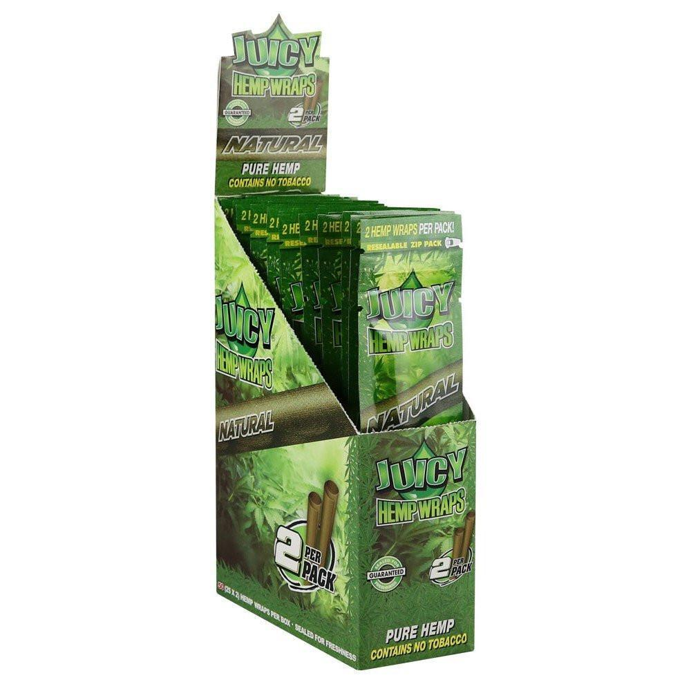 Juicy Hemp Blunt Wraps Natural (Box of 25)