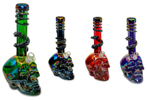 Skull Glass-On-Glass Soft-Glass Water Pipe