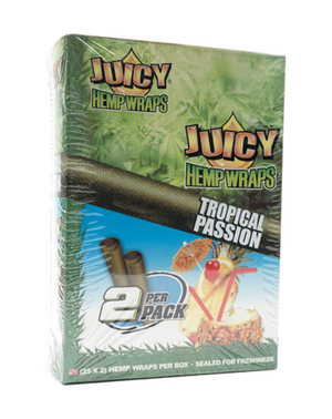 Juicy Hemp Wraps Tropical Passion (Box of 25)
