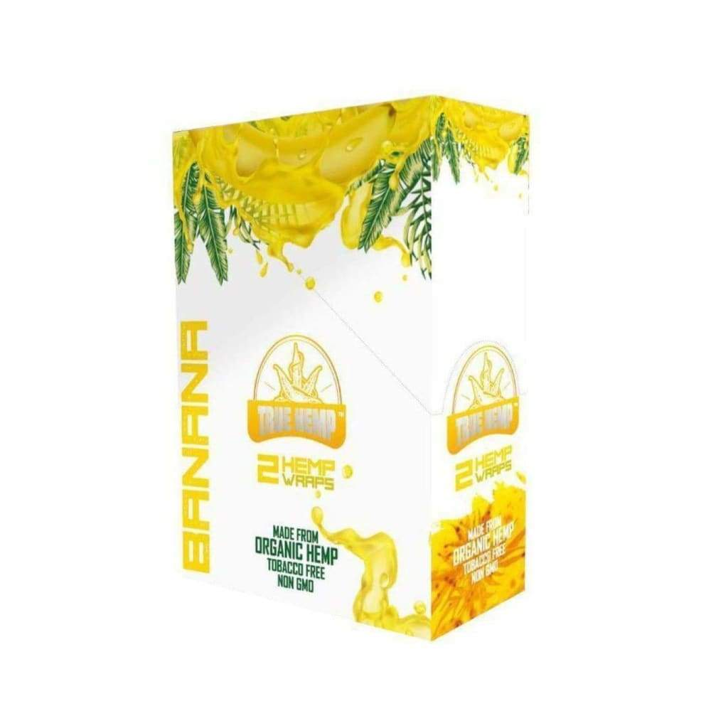 True Hemp Wraps BANANA FLAVOR / 1 Box