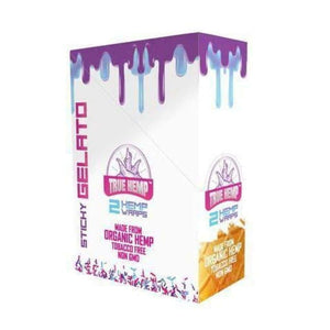 True Hemp Wraps STICKY GELATO FLAVOR / 1 Box