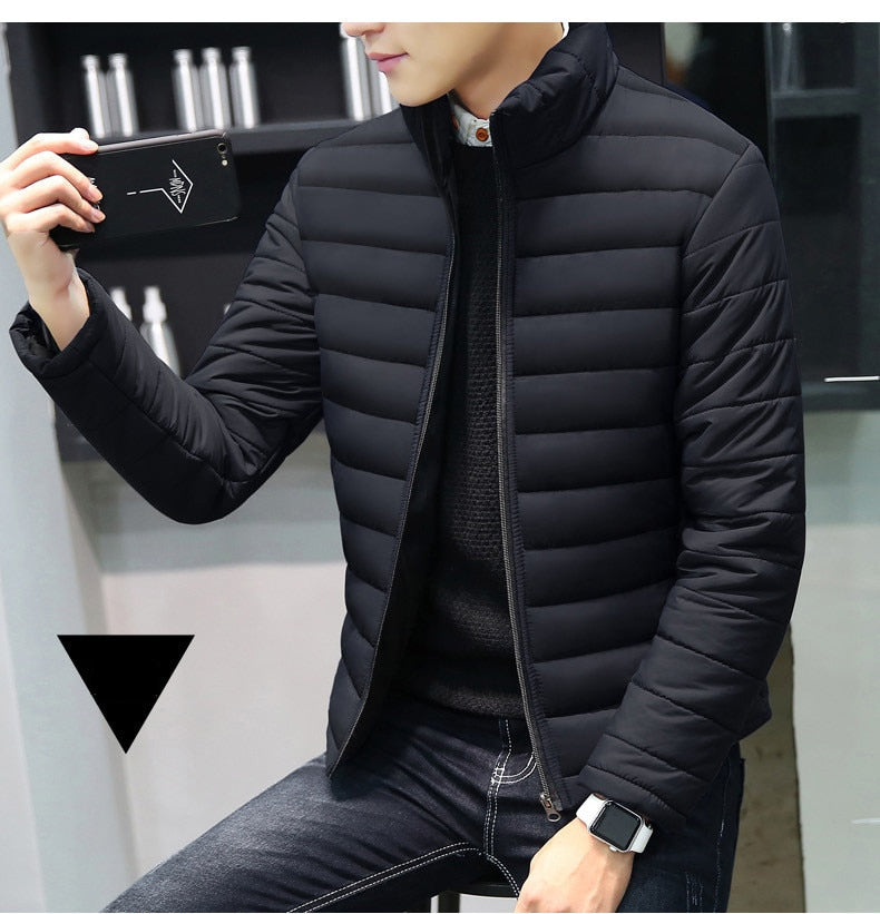 Collar Thickened Overcoat for Male