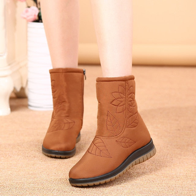 Fur Ankle Boots Waterproof