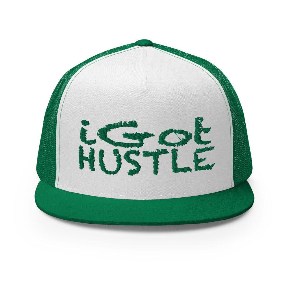 iGot Hustle Trucker Cap (Green)