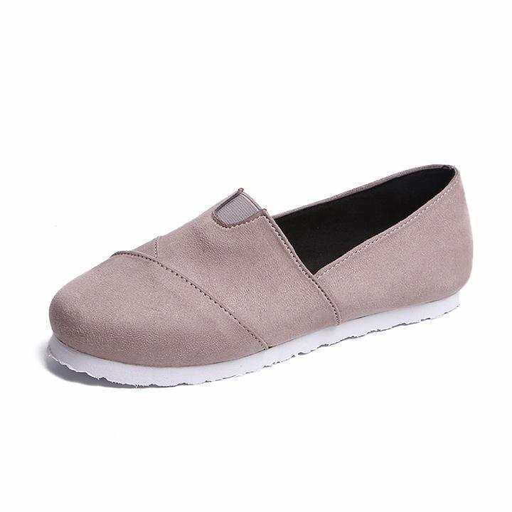 Suede low-cut flat loafers shoes