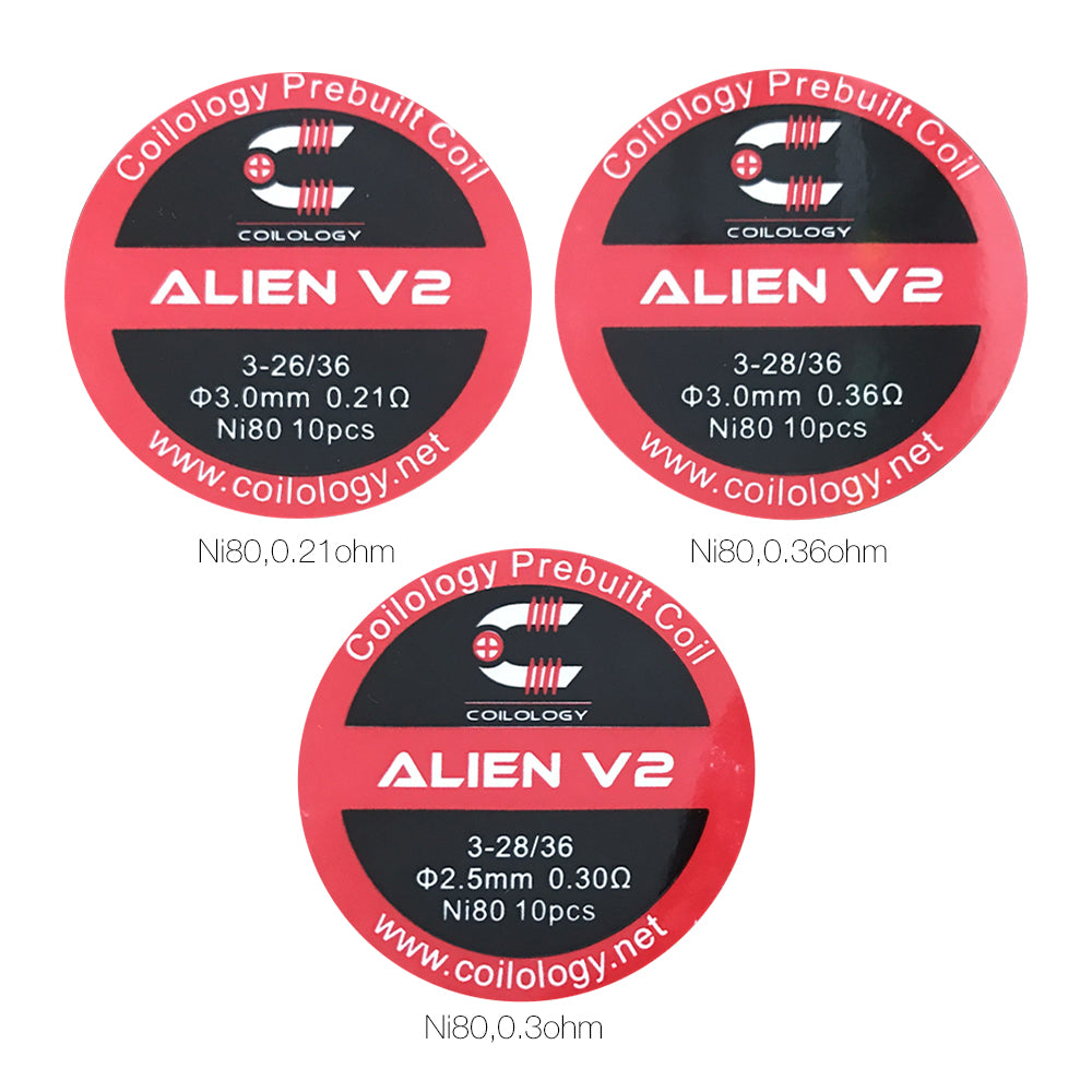 COILOLOGY ALIEN V2 - 3.0 MM 0.21 OHM (10 pieces)