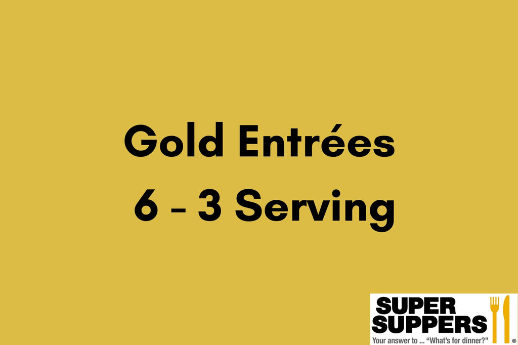 Gold Club Entrees - 6 - 3 Serving