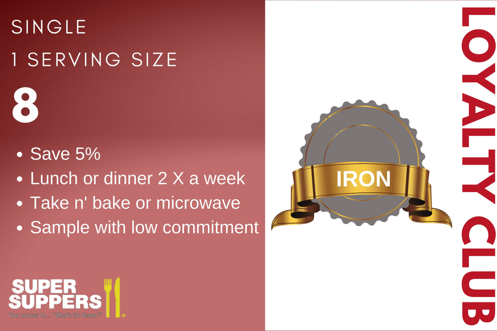 Iron Super Supper Loyalty Club - 8 Single Meals