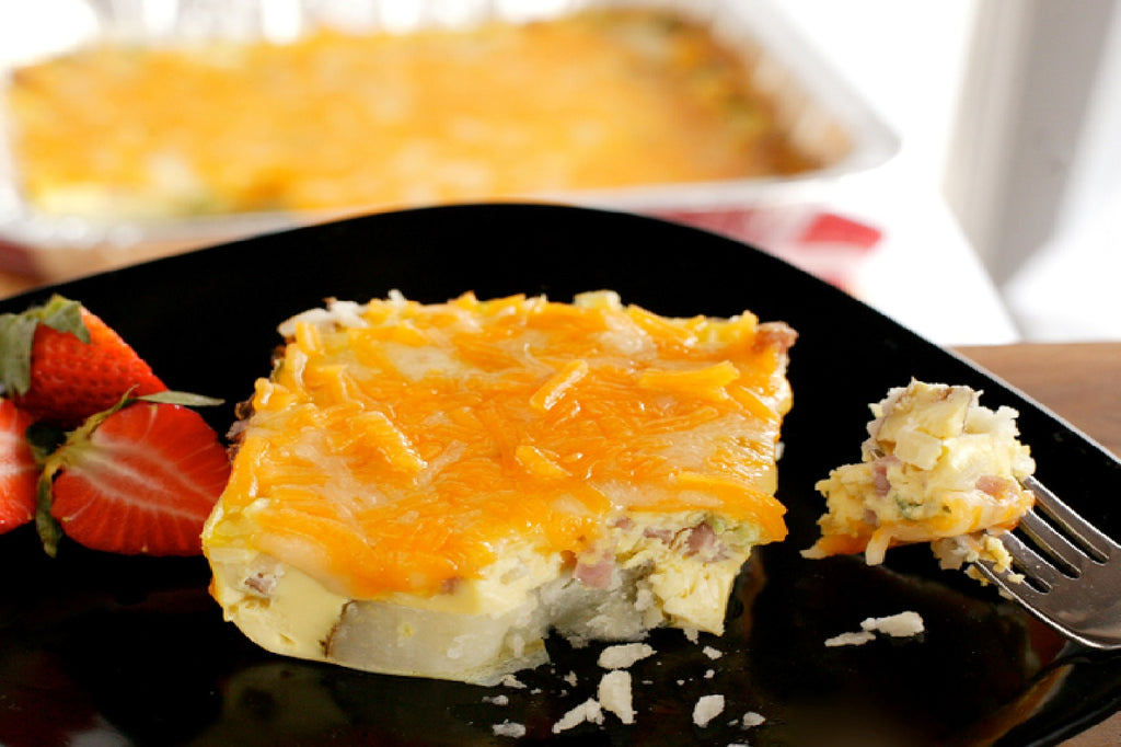 Baked Cheesy Ham and Potatoes - 1 Serving Club Entrée - Grab n' Go Ready