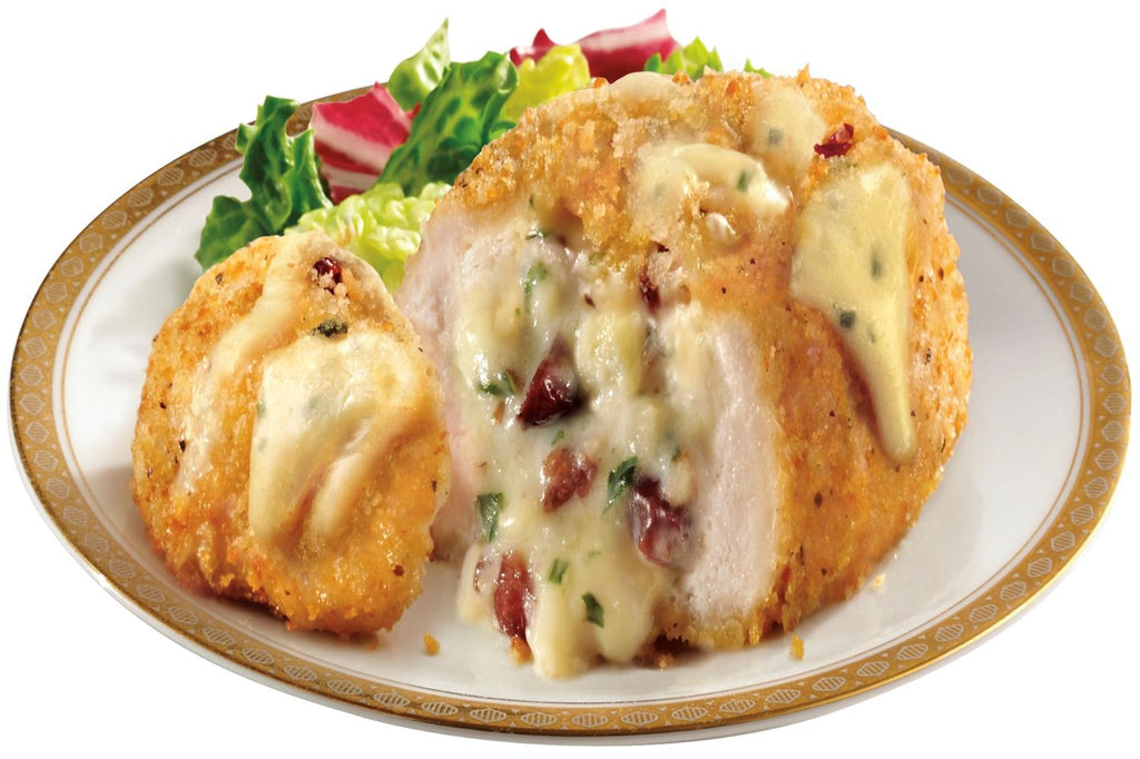 Chicken Breasts Stuffed with Brie, Cranberries and Apples - 3 Serving Entrée