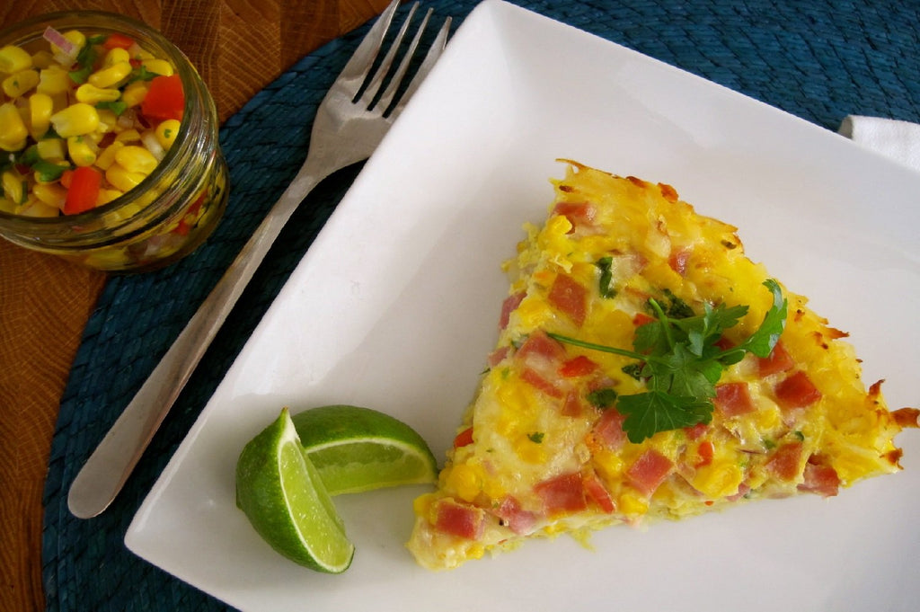 Ham and Hash Brown Frittata - 3 Serving Entrée