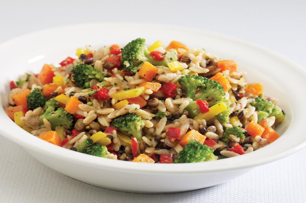 Orzo, Red Quinoa and Veggies - 3 Serving Side