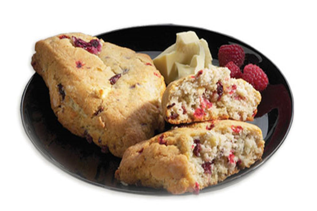 White Chocolate Raspberry Scones - 8 Serving Side