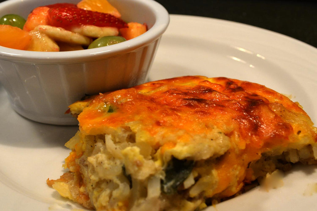 Sausage and Hash Brown Frittata - 1 Serving Entrée