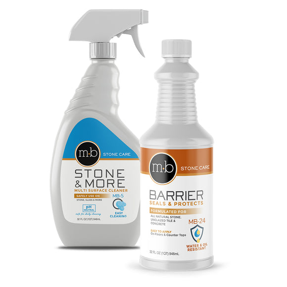 Natural Stone Cleaner & Sealer Silver Kit