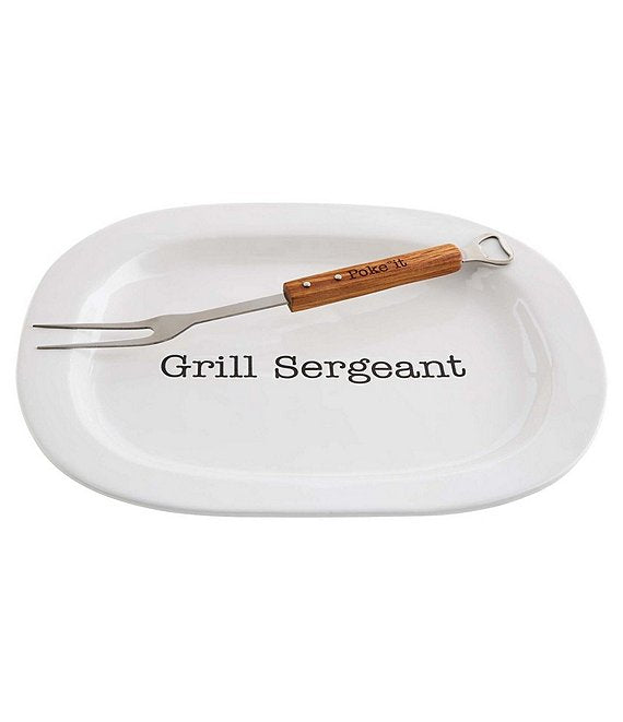 Mud Pie Grill Sergeant Platter with Fork