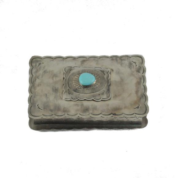 J Alexander Rectangle Box with Turquoise
