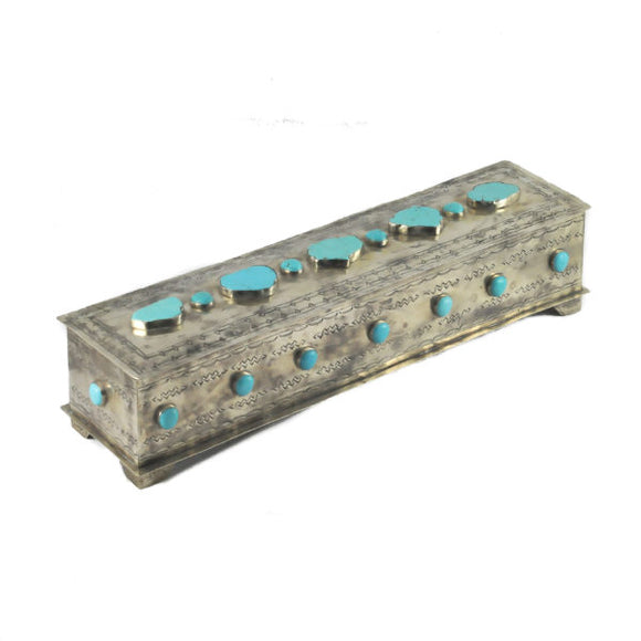 J Alexander Silver with Turquoise Mantle Box