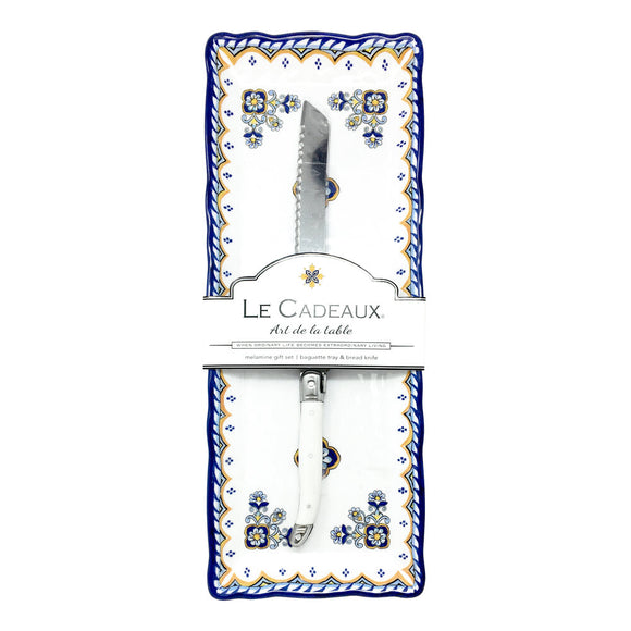 Le Cadeaux Sorrento Baguette Tray with Knife