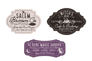 Witch Sign-Salem Broom, Witch Cafe or Magic Shoppe