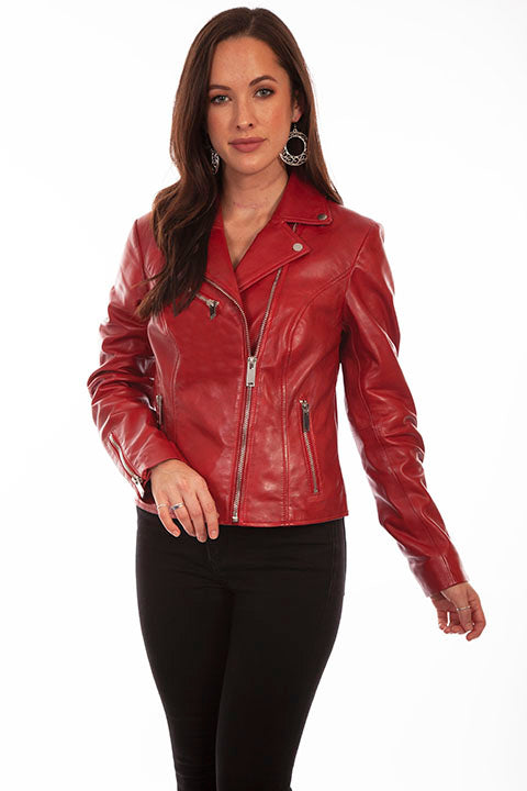 Roxie Red Leather Jacket
