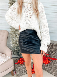 Weekend Getaway Leather Skirt