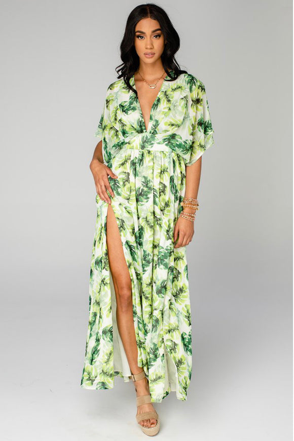 Buddy Love Evelyn Short Sleeve Maxi Dress-Maui
