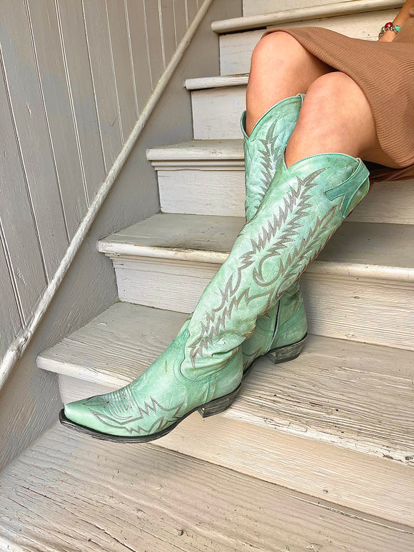 Old Gringo Mayra Turquoise Tall Snip Toe Boot