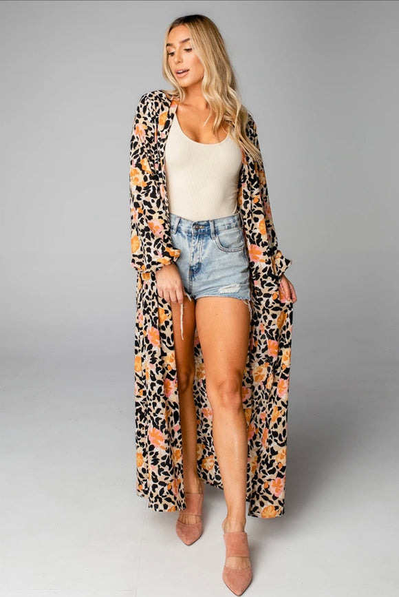 Buddy Love Loretta Long Sleeve Duster- Poppy Field