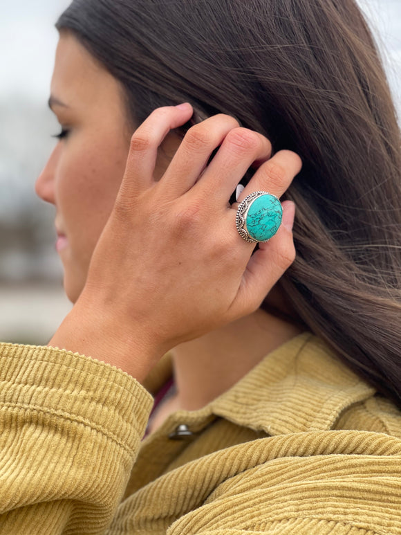 Head Turner Turquoise Ring